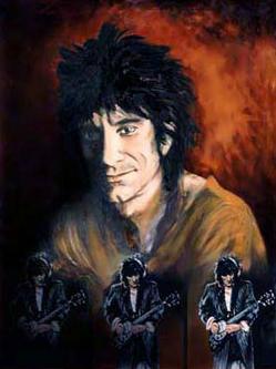 Triple Self Portrait by Ronnie Wood