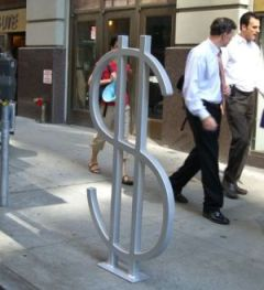 Wall Street NYC bike rack design by David Byrne