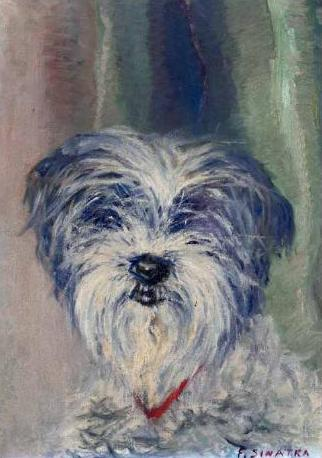 Dog Painting by Frank Sinatra