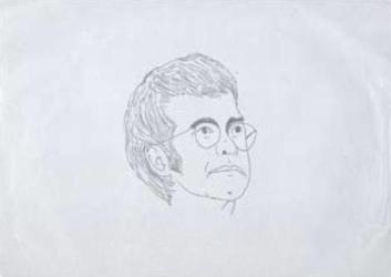 Sketch of Elton John by John Entwistle
