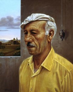 Man With Italian Landscape by Federico Castelluccio