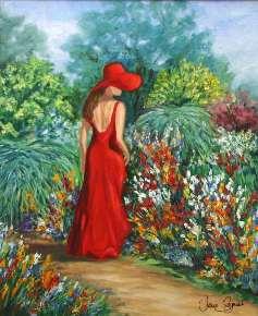 Lady in the Garden by Jane Seymour