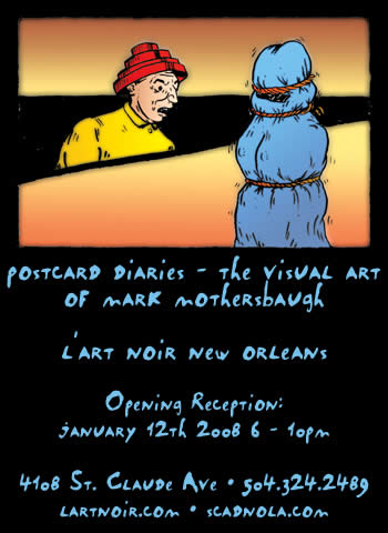 Postcard Diaries - The Visual Art of Mark Mothersbaugh at l'art Noir New Orleans