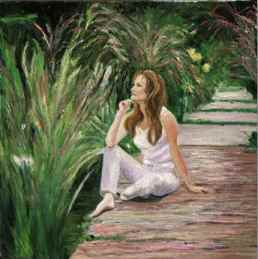 Self Portrait in the Garden by Jane Seymour