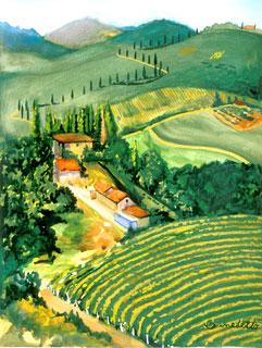 Tuscan landscape by Tony Bennett